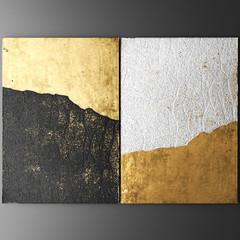 Sztuka ścienna 3D, obrazy ze złotym liściem