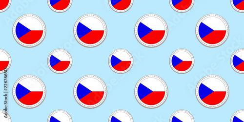 Photo  Czech Republic flag seamless pattern