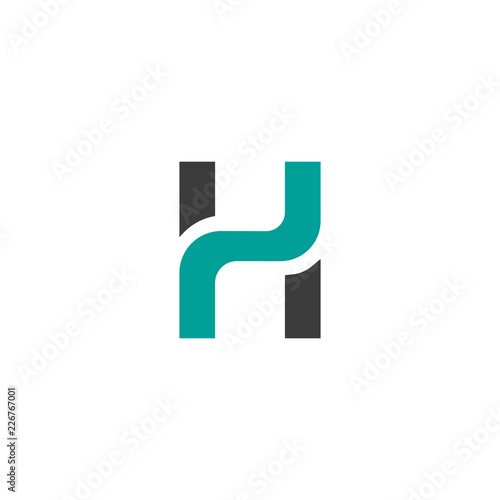 4a3c78be7 Creative letter h logo design vector template - Buy this stock ...