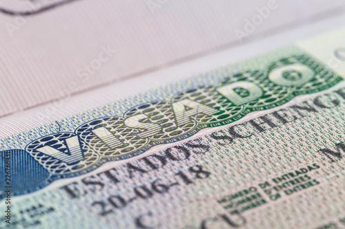 Valokuva Schengen visa issued by the Embassy of Spain.