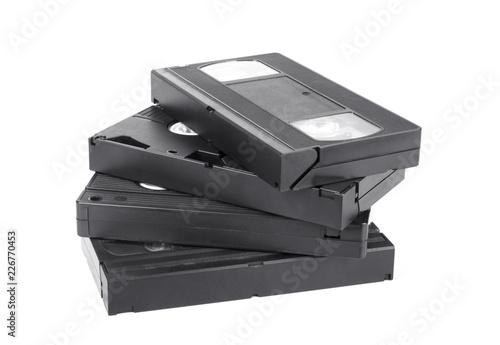 Valokuva  Classic vhs cassette isolated on white