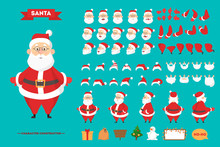 Santa Claus Character Set For The Animation