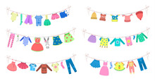 Cute Baby Clothes Drying On Th...