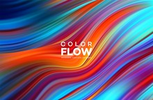 Modern Colorful Flow Poster. W...