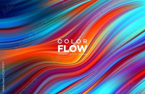 Fotografia, Obraz Modern colorful flow poster