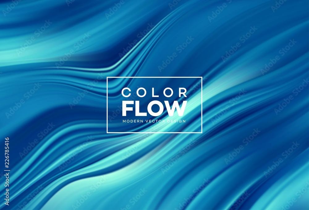 Fototapety, obrazy: Modern colorful flow poster. Wave Liquid shape in color background. Art design for your design project. Vector illustration