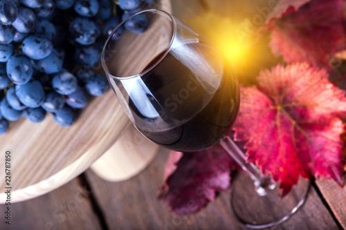 Foto op Aluminium Buffet, Bar glass of red wine