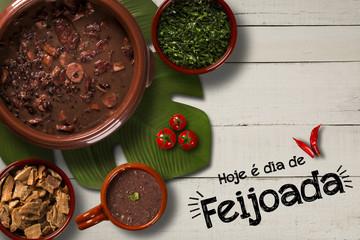 Brazilian Feijoada Food. Written