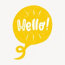 Hello Word In Speech Bubble