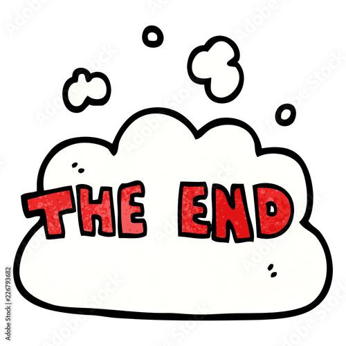 Fotografia, Obraz  cartoon doodle wording the end