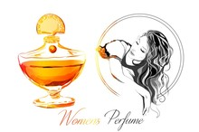 Beautiful Perfume Bottle With ...