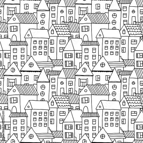 recznie-rysowane-wzor-z-doodle-domy-tlo-wektor-z-kreskowkowym-miastem