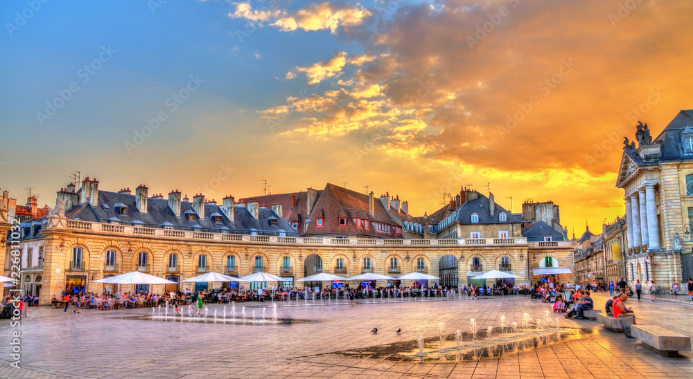 Fototapety, obrazy: Building in front of the Ducal Palace in Dijon, France