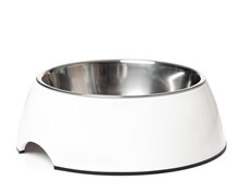 Empty Pets Bowl Isolated On Wh...
