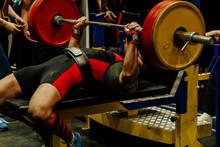 Bench Press Indian Athlete Att...