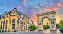 The Guillaume Gate At Sunset In Dijon, France