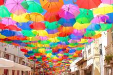 カラフルな傘  ポルトガル ( Portgal Agueda )
