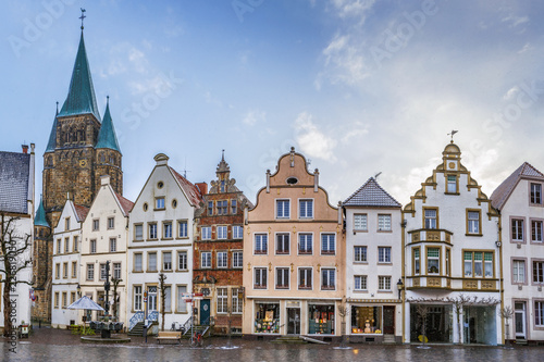 Photo Stands Historical market square, Warendorf, Germany