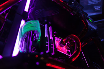 close up of pc for gaming w...