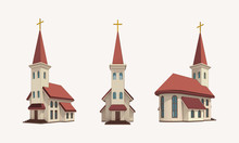 Church Pack Daylight Vector