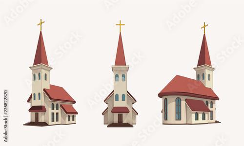 Photo church pack daylight vector
