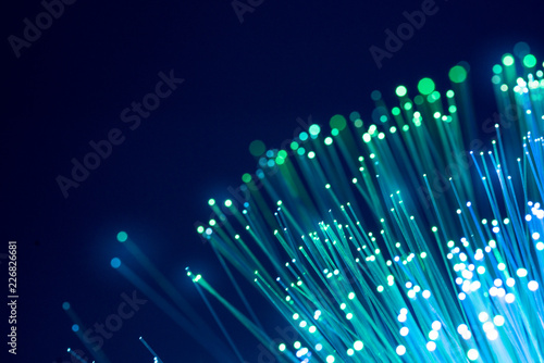 Obraz Fiber optics, abstract & blur background - fototapety do salonu