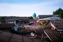 Local House Village And Mosque Of Ban Nam Chiao In Trat Province, Thailand