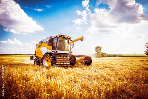 Combine harvesters Agricultural machinery Wallpaper Mural