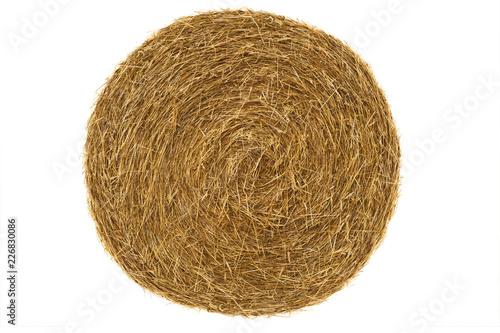 Fototapeta Round hay bale