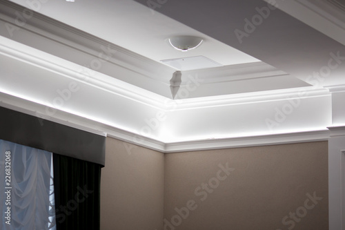 Photo Interior details ceiling stucco plaster