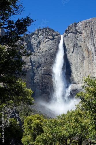 Fotografie, Obraz  Upper Yosemite fall in summer day