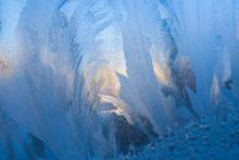 Close-up Blue Frosty Pattern S...