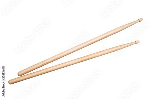 Obraz na płótnie two drumsticks on white background