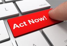 Act Now Button Concept 3d Illu...