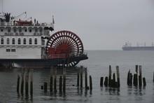 Stern Wheel Cruise Ships At Dock In Astoria, Oregon