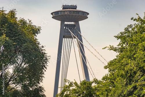 Ufo Bridge at the city of Bratislava