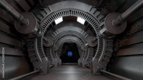 Space environment, ready for comp of your characters.3D rendering