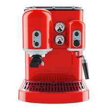 Red Coffeemaker Or Coffee Mach...