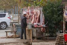 Butcher At Kashgar Animal Market II