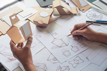 Designer Sketching Drawing Des...