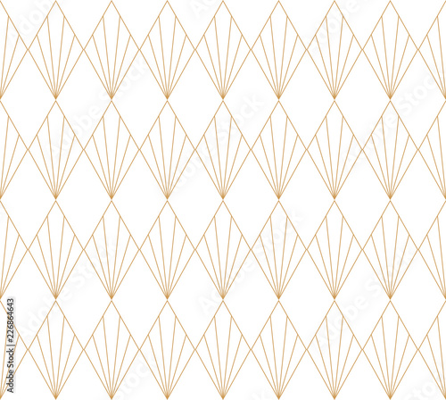 Vector Art Deco Pattern. Seamless Abstract Background. Geometric Vintage Style Texture. Wall mural
