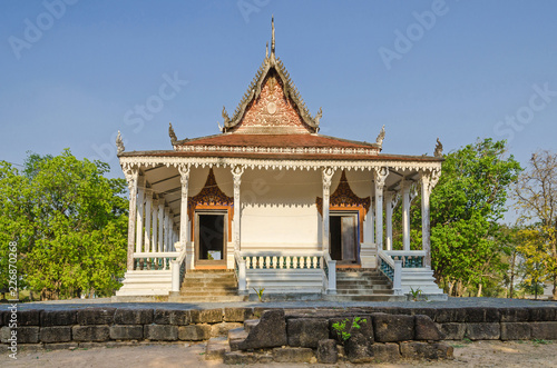 The oldest Cambodian monastery building near the village Kampong Tralach Leu in Cambodia