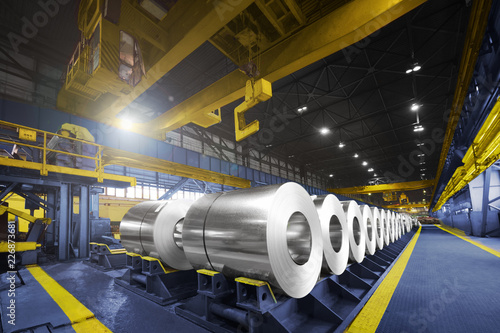 Stampa su Tela Packed rolls of steel sheet, Cold rolled steel coils