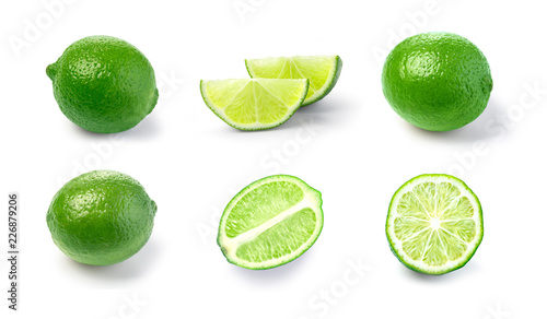 lime set isolated on white