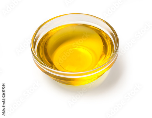 Fotografie, Obraz view of olive oil bowl isolated on white
