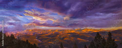 Printed kitchen splashbacks Eggplant Sunset over Evergreen, Colorado