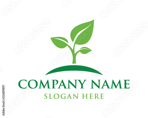Growing New Shoots Sign Symbol Agriculture Company logo