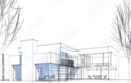 nowoczesny-dom-budowa-architektura-ilustracja