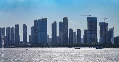 Spoed Foto op Canvas Stad gebouw The City view along the shoal of Yangtze river