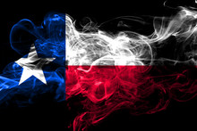 Texas Colorful Smoking Flag 2018.